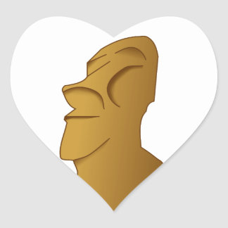 Easter island Moai Rapa Nui Heart Sticker