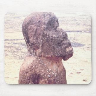 Easter Island Moai Sculpture Mouse Pad