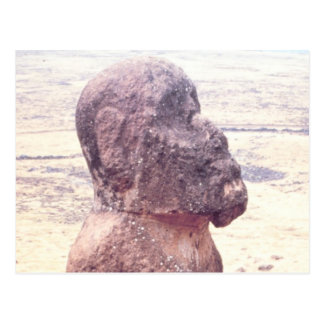 Easter Island Moai Sculpture Postcard