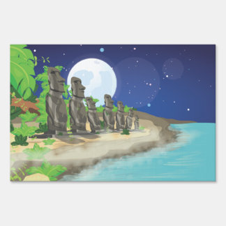 Easter Island Moai Sign