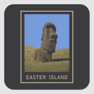 Easter Island Moai Square Sticker