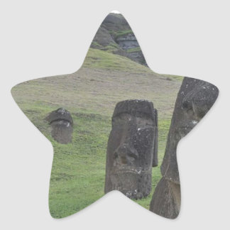 Easter Island Moai Star Sticker