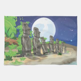 Easter Island Moai Towels