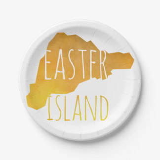 Easter Island Paper Plate