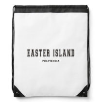 Easter Island Polynesia Drawstring Bag