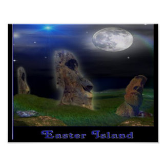 Easter Island Poster