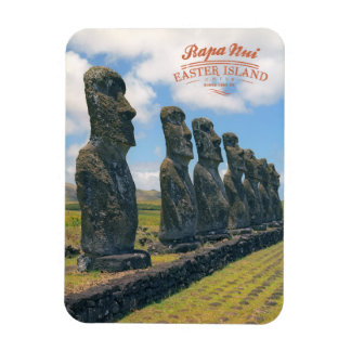 Easter island (Rapa Nui) Chile Rectangular Photo Magnet