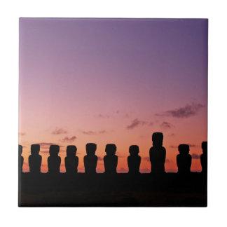 Easter Island Rapa Nui  Chile South America Tile