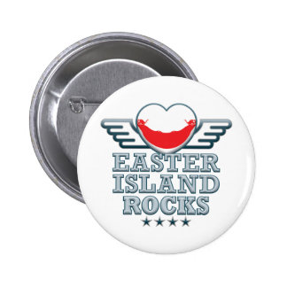 Easter Island Rocks v2 2 Inch Round Button