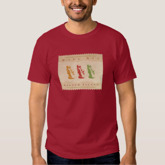 Easter Island shirt - red