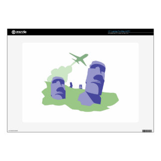 """Easter Island Decal For 15"""" Laptop"""