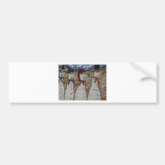 Easter Island Snow Men Bumper Sticker