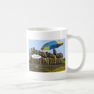 Easter Island statues Classic White Coffee Mug