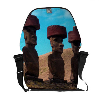 EASTER ISLAND TALKING HEADS COURIER BAGS