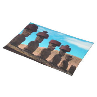 EASTER ISLAND TALKING HEADS PLACEMAT