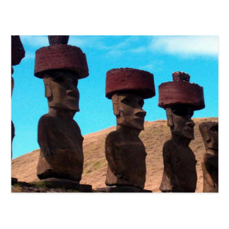 EASTER ISLAND TALKING HEADS POST CARDS