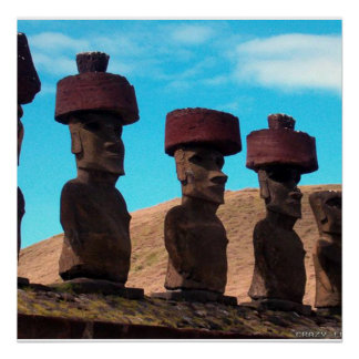 EASTER ISLAND TALKING HEADS POSTER