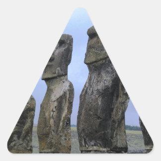 Easter-Island Triangle Sticker