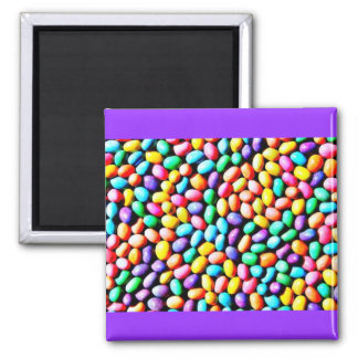 Easter Jelly Beans 2 Inch Square Magnet