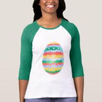 Easter Jersey Women's Easter Egg Baseball Jersey T-Shirt
