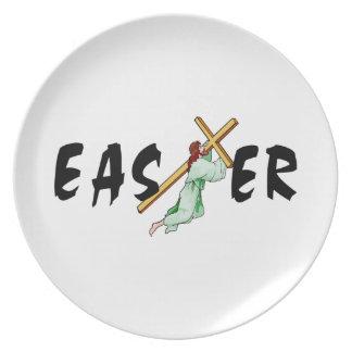 Easter Jesus Cross Dinner Plate