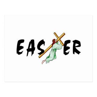 Easter Jesus Cross Postcard