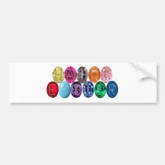 Easter Jewel Eggs Bumper Sticker