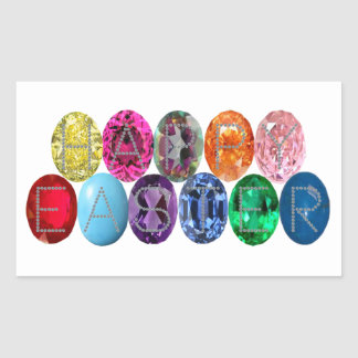 Easter Jewel Eggs Rectangular Sticker