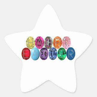 Easter Jewel Eggs Star Sticker