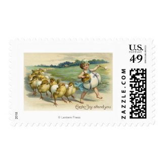 Easter Joy Attend YouChicks in a Parade Stamp