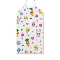 Easter Kawaii Pattern Gift Tags