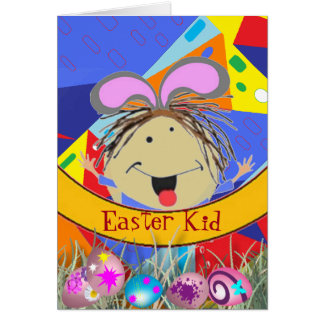 Easter Kid Greeting Card