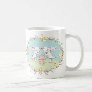 easter kissing bunnies mug