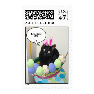 Easter Kitty Cat Stamp