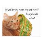Easter kitty postcard