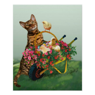 Easter Kitty Style Poster