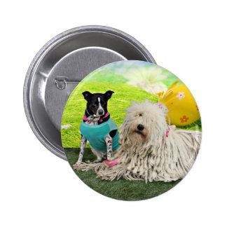 Easter - Komondor - Zoey - Basenji X - Jasper Pinback Buttons
