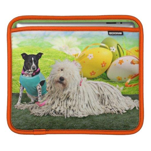 Easter - Komondor - Zoey - Basenji X - Jasper iPad Sleeves