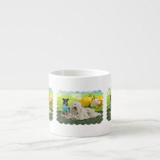 Easter - Komondor - Zoey - Basenji X - Jasper 6 Oz Ceramic Espresso Cup