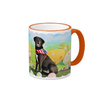 Easter - Labrador - Dakota Ringer Coffee Mug