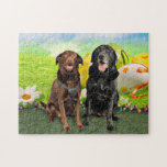 Easter - Labrador - Jack and Diane Jigsaw Puzzle