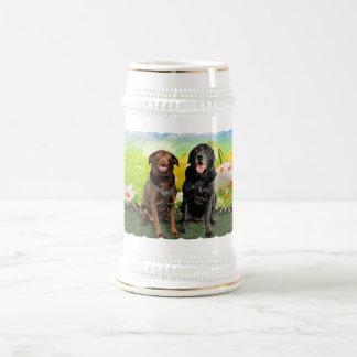 Easter - Labrador - Jack and Diane 18 Oz Beer Stein