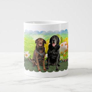 Easter - Labrador - Jack and Diane 20 Oz Large Ceramic Coffee Mug