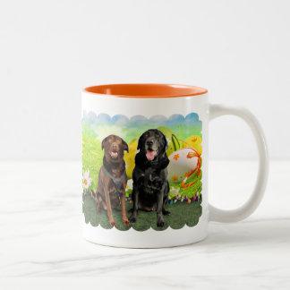 Easter - Labrador - Jack and Diane Two-Tone Coffee Mug
