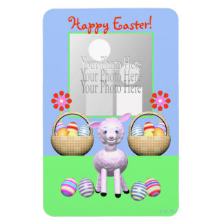 Easter Lamb and Eggs Magnet