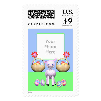 Easter Lamb and Eggs (photo frame) Stamp