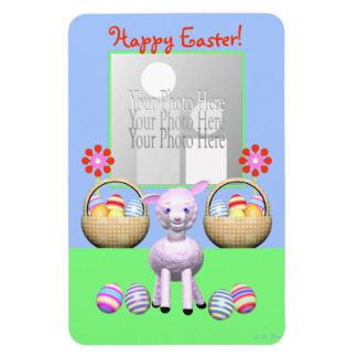 Easter Lamb and Eggs Rectangular Photo Magnet