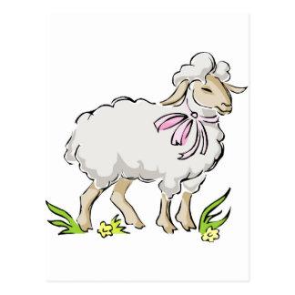 Easter Lamb Postcard
