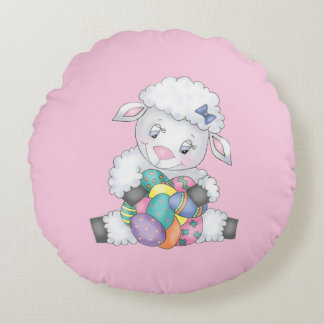 Easter Lamb Round Pillow
