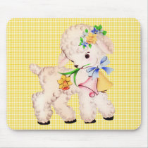 EASTER LAMB VINTAGE MOUSE PAD
